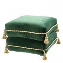Bernini Roche Dark Green Velvet Stool