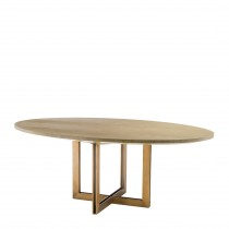 Melchior Washed Oak Oval Dining Table