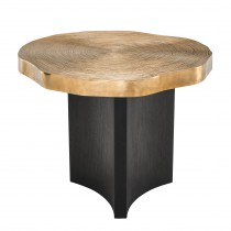 Thousand Oaks Brass & Black Side Table