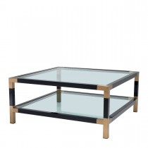 Royalton Black & Brass Coffee Table