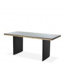 Vauclair Brushed Brass & Black Desk