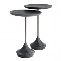 Puglia Grey Marble Side Table - Set of 2