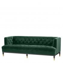 Castelle Roche Dark Green Velvet Sofa