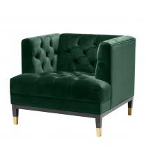 Castelle Roche Dark Green Velvet Armchair