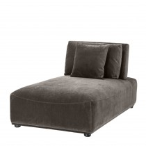 Mondial Granite Grey Chaise Lounge
