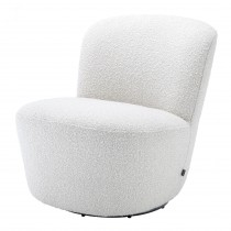 Doria Boucle Off-White Swivel Armchair