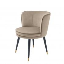 Grenada Savona Greige Velvet Dining Chair