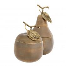 Apple & Pear Brass Box - Set of 2