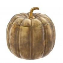 Pumpkin Vintage Brass Box