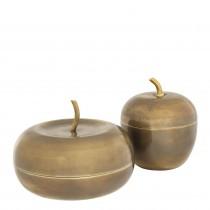 Apple Vintage Brass Box - Set of 2