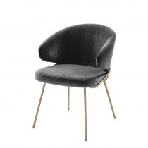 Kinley Savona Dark Grey Velvet Dining Chair