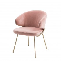 Kinley Savona Nude Velvet Dining Chair