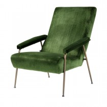 Gio Catania Green Velvet Armchair
