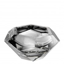Las Hayas Grey Crystal Glass Bowl