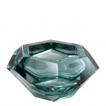 Las Hayas Turquoise Crystal Glass Bowl