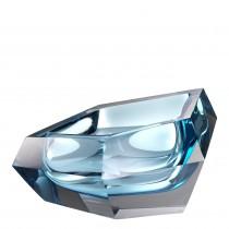 Alma Blue Crystal Glass Bowl