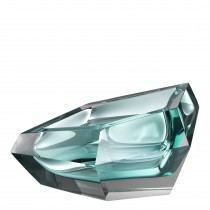 Alma Turquoise Crystal Glass Bowl