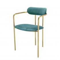 Singer Roche Turquoise Velvet Dining Chair - Set of 2