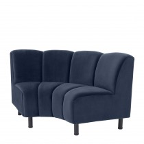 Hillman Savona Midnight Blue Modular Sofa - Curved