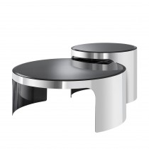 Piemonte Stainless Steel Coffee Table - Set of 2