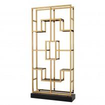Lagonda Brass & Smoked Glass Cabinet