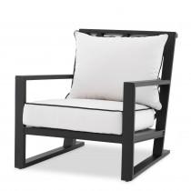 Como Black Outdoor Armchair