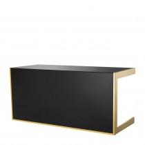 Cosmo Gold & Black Glass Desk