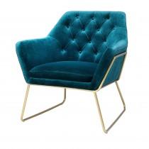 Court Catania Blue Velvet Armchair