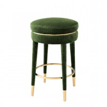Parisian Catania Green Velvet Counter Stool