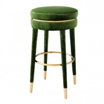 Parisian Catania Green Velvet Bar Stool