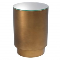 Riva Antique Brass Side Table