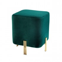Burnett Savona Dark Green Velvet Stool