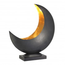 Half Moon Gunmetal Table Lamp