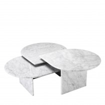 Naples Carrera Marble Coffee Table - Set of 3