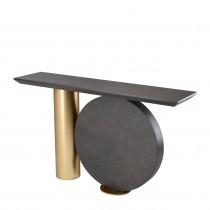 Spring Mocha Straight Oak Console Table angle