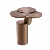 Armstrong Brushed Copper Side Table