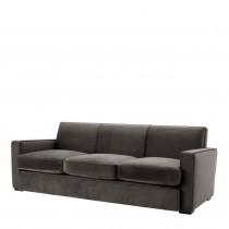 Edmond Savona Grey Velvet Sofa
