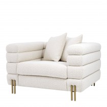 York Boucle Cream Armchair