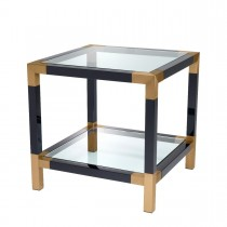 Royalton Black & Brass Side Table