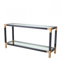 Royalton Black & Brass Console Table