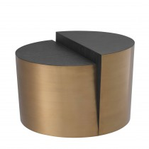 Riviera Brushed Brass Side Table