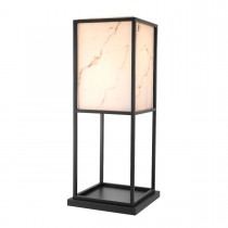 Barret Black & Faux Alabaster Floor Lamp