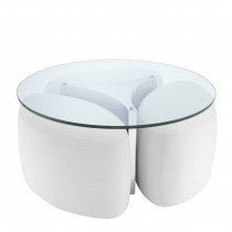 Modus Avalon White & Polished Stainless Steel Coffee Table