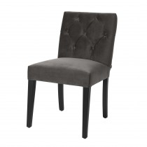 Atena Savona Grey Velvet Dining Chair