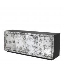 Bogart Charcoal Grey Oak & Antique Mirror Dresser