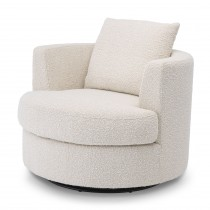 Felix Boucle Cream Swivel Amchair