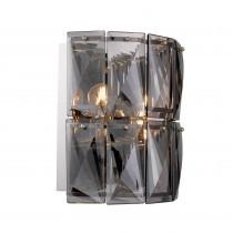 Amazone Smoked Glass Wall Lamp