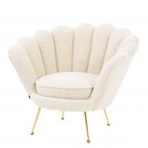 Trapezium Boucle Cream Armchair
