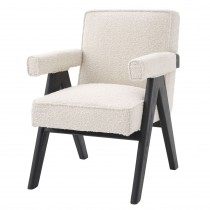 Greta Boucle Cream Dining Chair