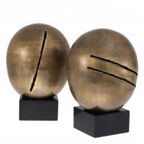 Artistic Vintage Brass Object - Set of 2